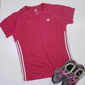Adidas Short Sleeve Vneck Athletic Workout Shirt